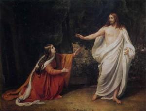 Мария Магдалина и воскресший Спаситель