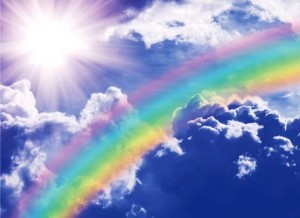 и пока будет радуга на небе, знайте, что Я с вами.