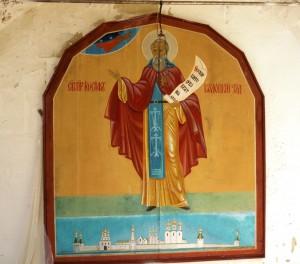Икона на стене монастыря